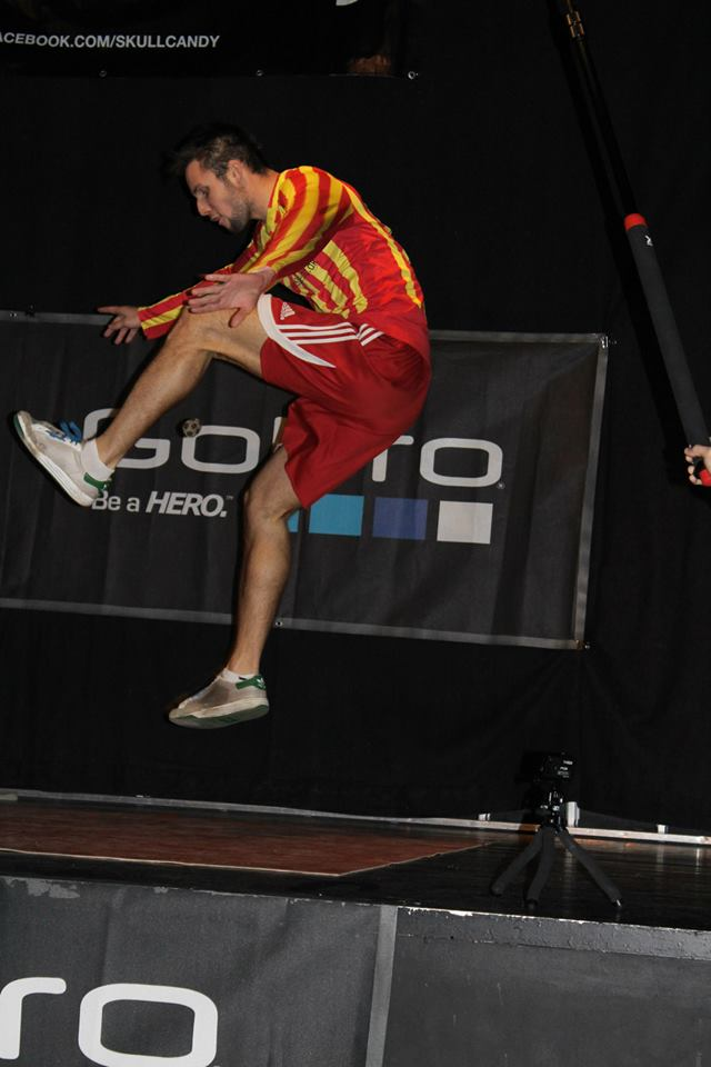Milan Benda at the DFO. Photo: Footbag Denmark