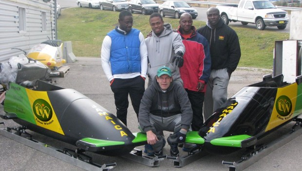 Jamaican Bobsled Team. Photo: Jamaica Bobsleigh Federation
