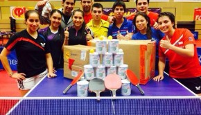 Table tennis donation. Photo: DAR Chile