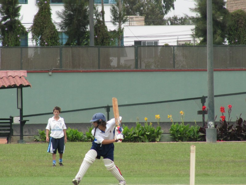 Young players in action at the South American Championships. Photo: Cricket Chile
