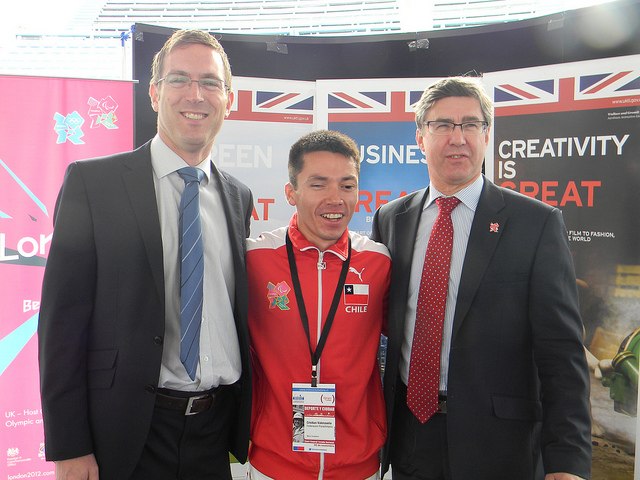 Stephen Stringer works on London's Olympic legacy. Photo: British Embassy