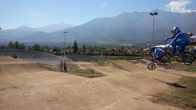 BMX at the South American Games. Photo: Daniel Boyle