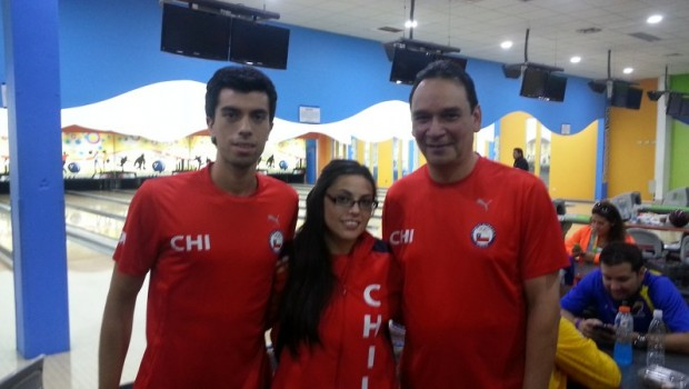 Chile's bowling team. Photo: Daniel Boyle