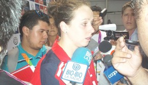 Kristel Kobrich faces the media