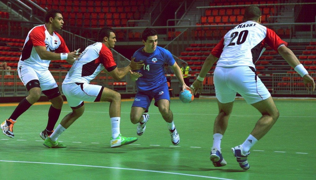 Chile prepare for the Odesur handball tournamnent.