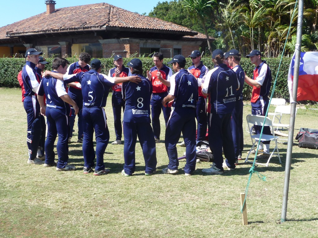 Chilean team in action in Costa Rica. Photo: Cricket Chile