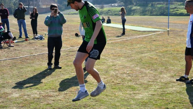 Daniel Boyle performing footbag in Chile. Photo: David Delaporte