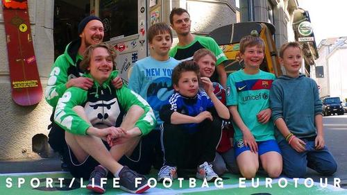 Sport/Life European Footbag Tour. Photo: Michelle Boychuk