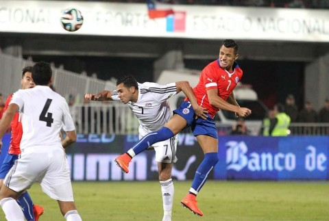Alexis Sánchez starred for Chile against Egypt. Photo: ANFP