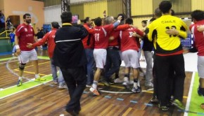 Chilean handball team celebrates qualification to Qatar. Photo: @PATHM/Twitter