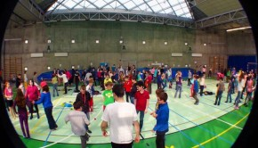 Children enjoy footbag in Czech Republic. Photo: Michelle Boychuk