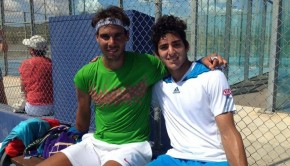 Rafael Nadal and Christian Garín