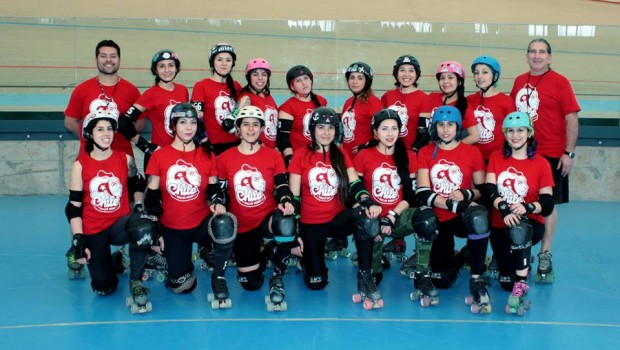 Team Chile Roller Derby. Photo via Facebook