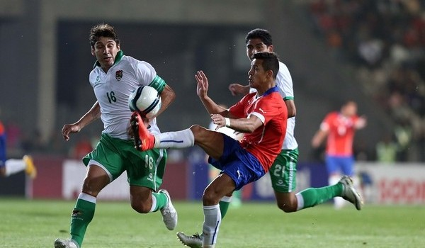 Alexis Sánchez in action against Bolivia. Photo: ANFP/Carlos Parra