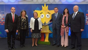 Michelle Bachelet at Copa América draw. Photo: Gobierno de Chile